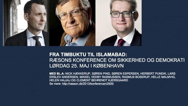 RÆSONKONFERENCE 25/5Fra Timbuktu til Islamabad