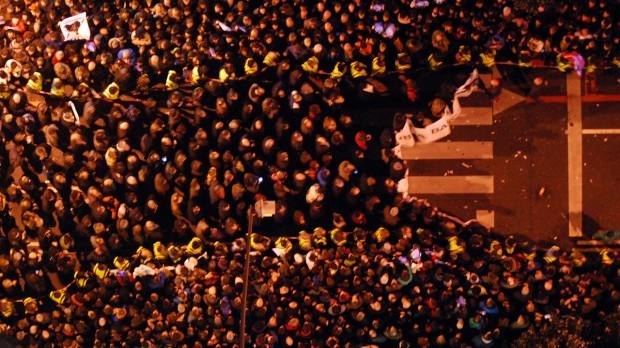 HISTORISK DEMONSTRATION I BASKERLANDET: Bliver Spanien splittet op?