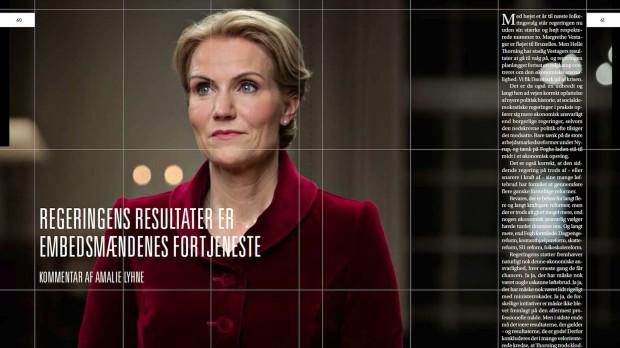 Regeringens resultater er embedsmændenes fortjenesteAmalie Lyhne i RÆSON19