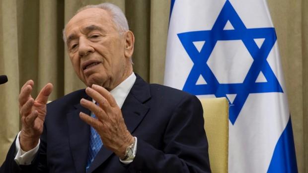 Jerichow: Shimon Peres holdt hånden over de radikale bosættere