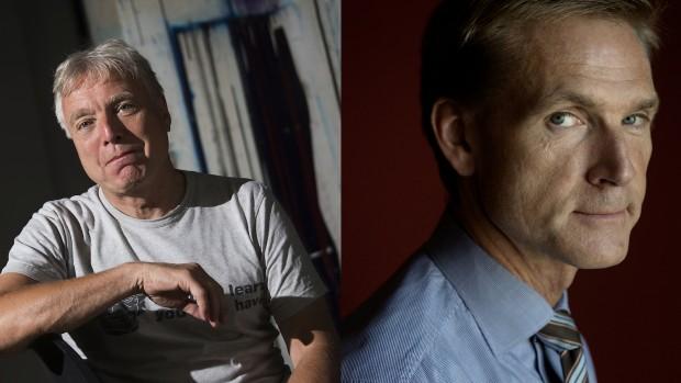 """""""Jeg siger tit til Mette Frederiksen, at vi anerkender, at der er et stort flertal i befolkningen, som åbenbart er enige med DF og S på det spørgsmål"""" – Elbæk om asylpolitikkenRÆSONS RUNDBORD: Kristian Thulesen Dahl og Uffe Elbæk"""
